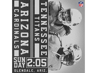 December 10 - Cardinals vs Titans sports design graphic design gameday cardinals arizona football