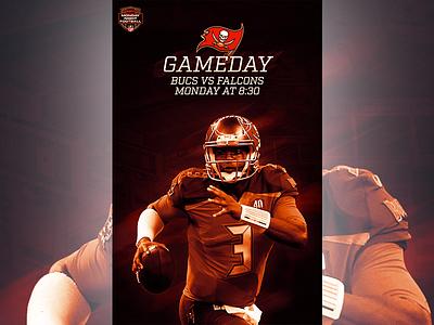December 18 - Buccaneers vs Falcons sports design graphic design gameday football buccaneers tampa bay