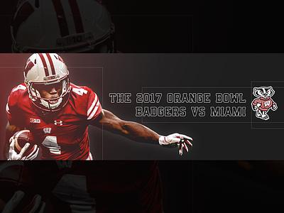 December 30 - Orange Bowl sports design graphic design gameday football badgers wisconsin