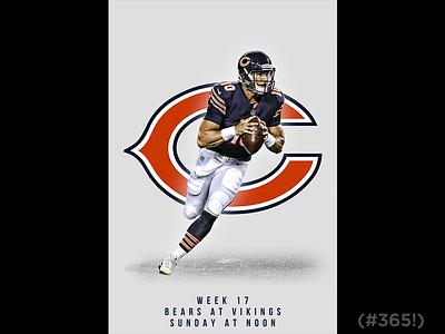 December 31 - Bears vs Vikings sports design graphic design gameday football bears chicago