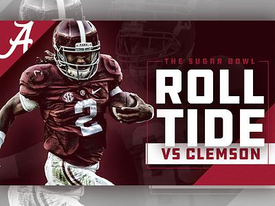 SEC Country / Sugar Bowl / Alabama sports design graphic design crimson tide alabama football sugar bowl