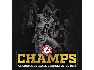 Talegate - National Champion sports design graphic design football crimson tide alabama
