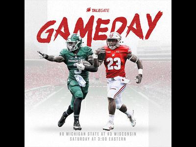 Talegate College Football template football sports design graphic design gameday