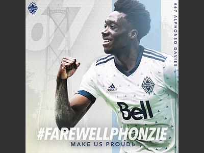 Farewell Phonzie graphic design soccer sports design