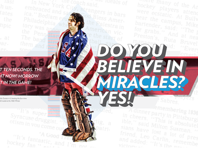 Miracle on Ice reboot reboot hockey graphic design sports design