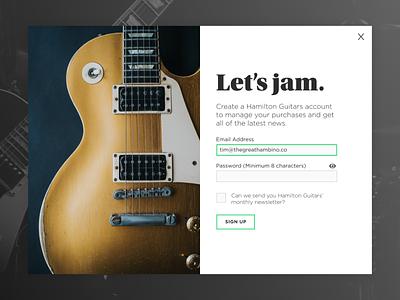 UI - Guitar Signup guitar uidesign ui