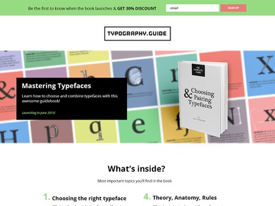 Landing Page sales page ebook typography guide typography landing page