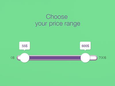 Price slider price slider slider userexperience ux web app widget design price layout price dailyui userinterface ui