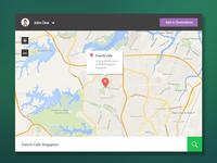 Map - flat UI