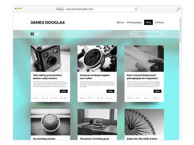 Personal Website / Blog interface photography blogging web layout ux dailyui ui webdesign website blog