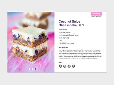 Recipe Layout Screen blog layout cake dailyui webdesign userinterface blog food recipe ux ui