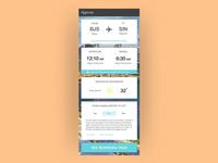 Flight / travel info app
