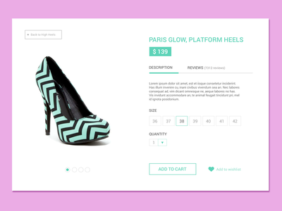 Product Page ux shopping ecommerce ui productpage product women fashion shoes