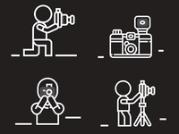 Photographer pictograms
