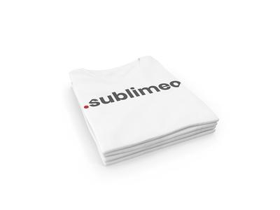 Sublimeo Tshirt logo design design typography red black white tshirt logo