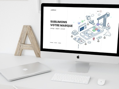 Sublimeo Website 10th anniversary website isometric design isometric illustration isometric illustration webdesign ui ux