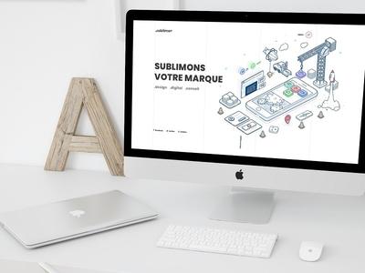 Sublimeo Website 10th anniversary website isometric design isometric illustration isometric illustration webdesign ui ux