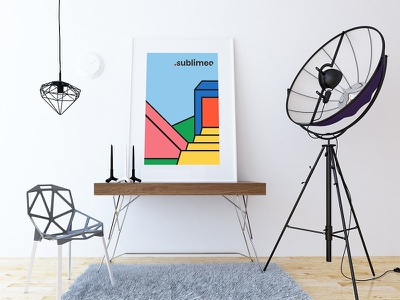 Sublimeo Poster geometric art illustration illustration design coloful print poster