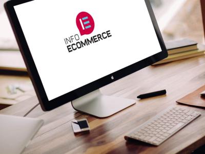 Ecommerce Webzine Logo V4 ecommerce blue pink logo