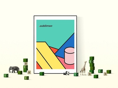 Sublimeo Art toy game color illustration geometric design geometric art logo poster
