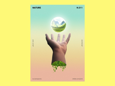 NATURE - Poster Design visualization visual poster ads posters creative direction creative design advertisment inspiration poster challenge poster a day 2021 product print poster 3d view visual design visual art