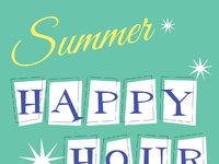 Summerhappy hour sign