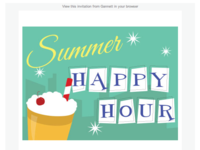 Connexions happyhour email