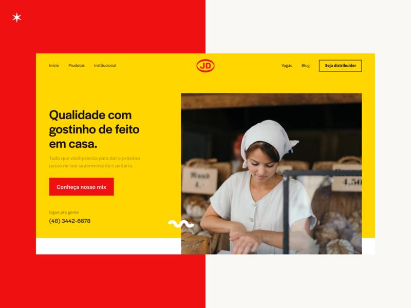 JD Alimentos Website header ux design website red yellow jd alimentos design ui ui design landing page