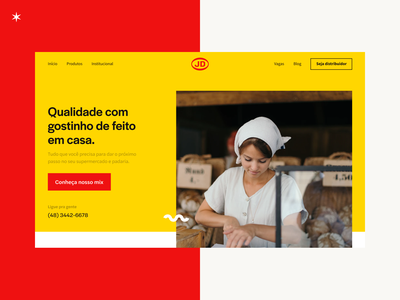 JD Alimentos Website header ux design website red yellow jd alimentos design ui ui design landing page