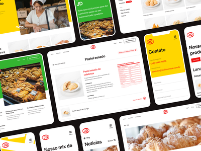 Responsive Website - JD Alimentos interface clean minimalist yellow green mockups mobile website ux ui design ui landing page