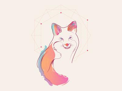 Fox pendura lá raposa fox