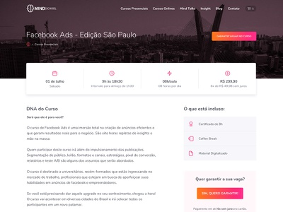 Course Page landing page curso course course page interface ux ui