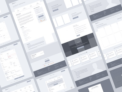 High-Fidelity Wireframe ux ui ui design landing page wireframe