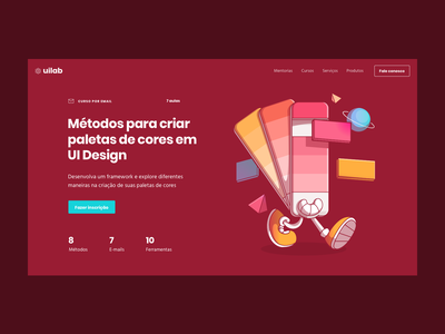 Header made for UI Lab Landing Page brown landing page ui design ui ui lab header