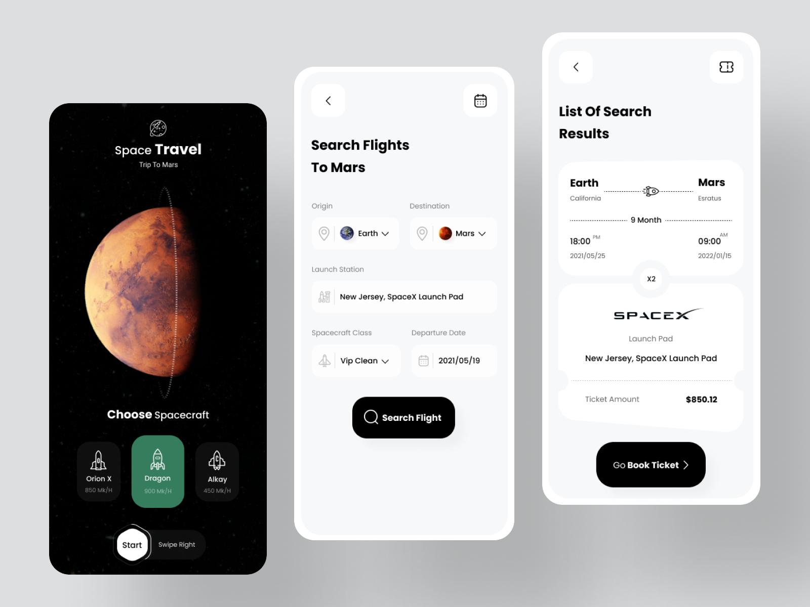Ticket Booking mars app
