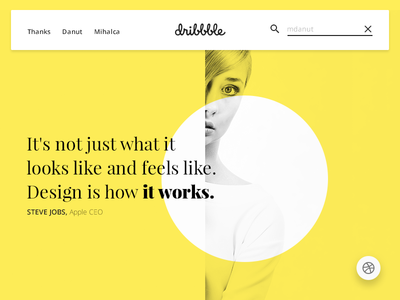 1st shot on Dribbble, wish me welcome!