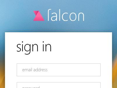 Falcon sign in login signin metro ui form button