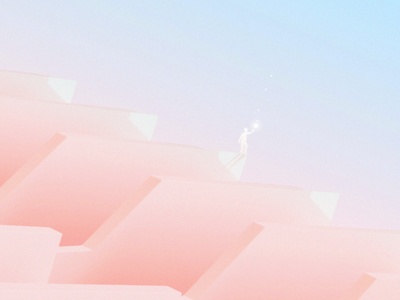 Freedom geometry design illustration clean light color gradient minimal simple