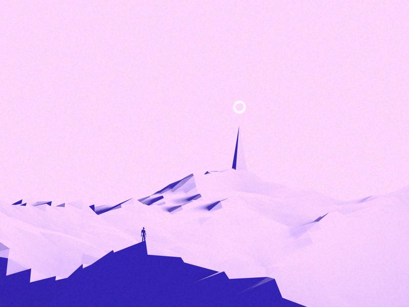 Freedom animation environment 3d c4d concept cool design texture scale sketch vector shadow illustration light geometric gradient color clean minimal simple