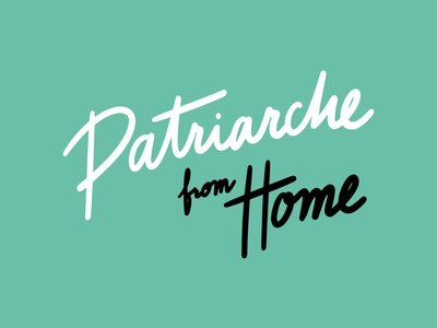 Patriarche from Home - webserie logo design branding branding typography logo type lettering design illustration color palette graphic design