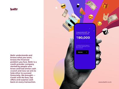 Artwork for Bettr brand design loan app credit loan design illustration ui bettr