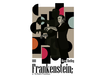 Frankestein digital art vector illustration poster figure drawig vectorillustration design vector ai illustration art illustraion mary shelley