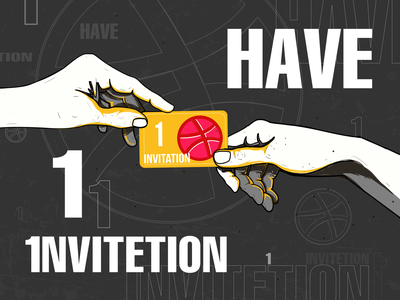 Invite invitation giveaway invitation dribbble invite dribbble invitation dribbble designer illustrator design illustration