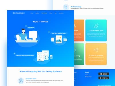 "UI design for ""how it works"" flat design gradient web illustration website homepage landing page ui how it works"