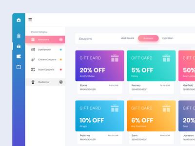 Discount Dashboard Design admin panel ui design ux design offer discount card dashboard ui dashboard