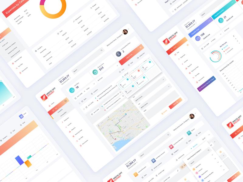 expenses mileage tracker dashboard design v2 by hafiz ibrahim