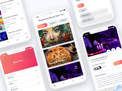 Events App UI/UX design!