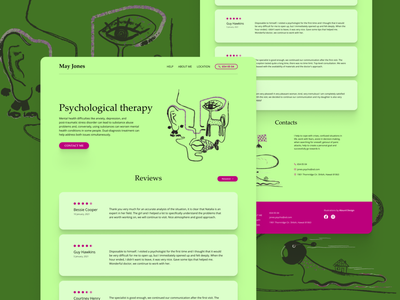 Landing Page For Psychotherapist dailyui minimal illustration landing page design landingpage branding