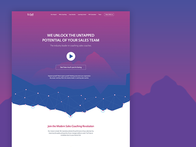 Ecsell Home Page data-point particles futuristic minimalistic landingpage ui-ux