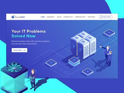 Source Tech it server ux webdesign minimalistic futuristic ui